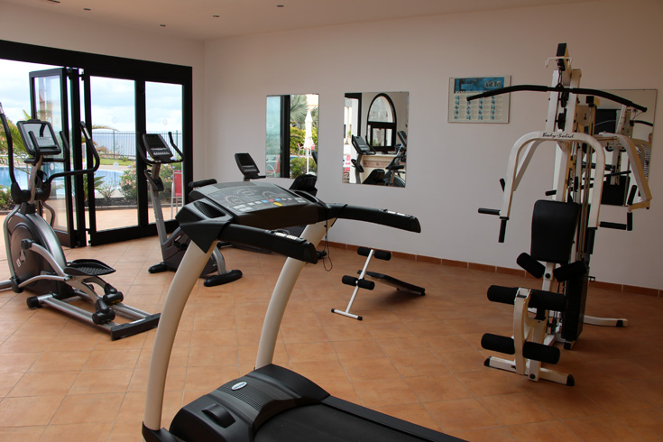 Fitnessraum hotel  Hotel Luz del Mar - Fitnessraum mit Blick auf das Meer